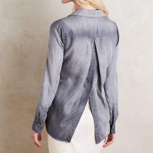 Anthro Cloth & Stone Gray Back Buttondown Shirt